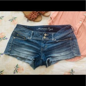 American Eagle Cut-off Jean Shorts 4 Stretch Denim